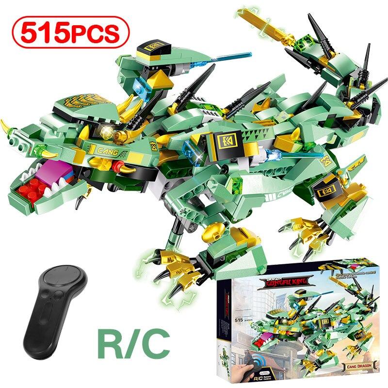 Nouveau LegoINGLYS idée intelligente Ninjagoed Dragon armure bloc de construction créateurs RC télécommande Action technique briques jouets enfants cadeaux