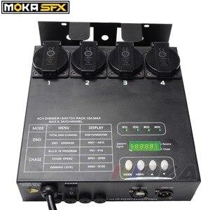 Image 3 - Compatto Dimmer e Interruttore Pack Auto/DMX 512 Modalità di Oscuramento Della Luce DMX Dimmer Pack Controller Stand alone di Musica controllo A001 per A512