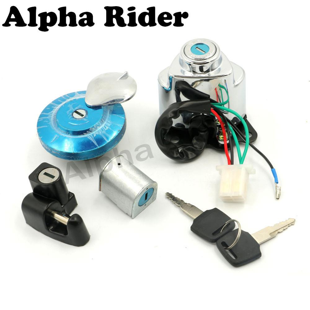 US $23 75 12% OFF| All years For Honda Shadow VLX 400 VLX 600 Steed VT400  VT600 Ignition Switch Gas Cap Helmet Steering Lock Key-in Motorbike  Ingition