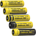 100% Original NITECORE NL1823/NL1826/NL1832/NL1834/NL1835 3.7V Li-ion Protected Battery Button Top for 18650 Type Flashlights
