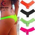 Em Forma de V Sexy Mulheres Thong Bikini Biquini Brasileiro Inferior Swimwear Swimsuit Tronco Calcinhas G Cordas Underwear Moda De Praia WYY005