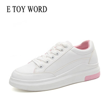 E TOY WORD womens casual shoes 2019 spring autumn women leisure sneakers comfortable Fashion ladies white