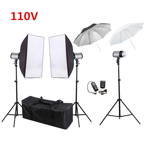 купить Inno Photo Video Studio lighting Kit Flash softbox+light stand+Flash Trigger+Translucent Umbrella studio flash lighting PSK300B1 онлайн