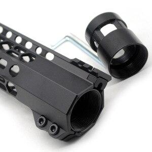 Image 5 - TriRock 15/17 بوصة م لوك لقط نمط Handguard السكك الحديدية تصميم جديد الحرة تعويم Picatinny جبل نظام أسود Fit. 223/5. 56/AR 15