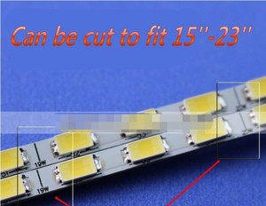 Image 3 - Neue!! 10pcs Universal Led hintergrundbeleuchtung Lampen Update kit Für LCD Monitor 2 LED Streifen Unterstützung zu 24 540mm Freies verschiffen