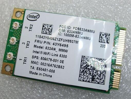Intel WIFI Link 5300 533AN 5300agn MINI PCIE 802.11a/b/g/Draft-n Wireless Card For Lenovo G450 Y450 T400 T500 X200