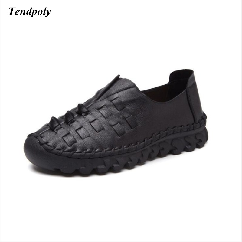 2018 The New spring and autumn leather leisure Women's shoes fashion collocation  breathable low solid tide shallow mouth shoes