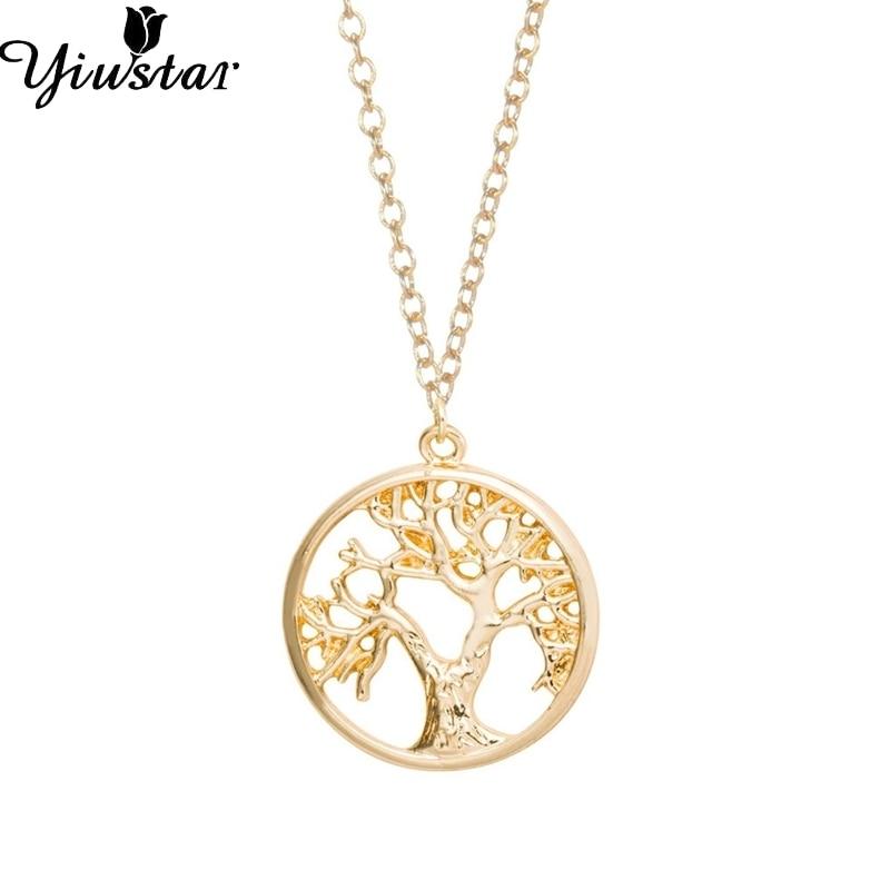 Yiustar Lebensbaum Form Einfache Halskette In Gold Großhandel Tiny - Modeschmuck - Foto 1