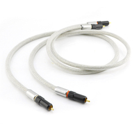 Hifi audio interconnect rca cable copper braided shield RCA to RCA male to male audio cable