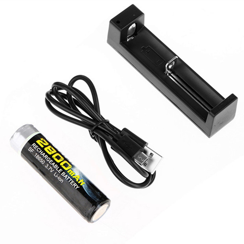 One 18650 Battery + One 18650 Usb Charger For Flashlight Protection 18650 Battery
