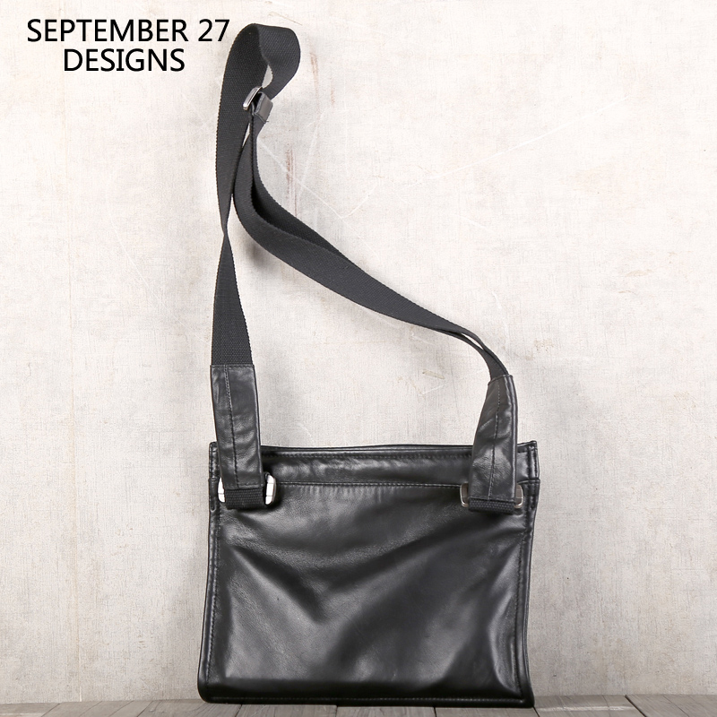 New Genuine Soft Leather Ladies Gents Cross Body Shoulder Bag Real Small