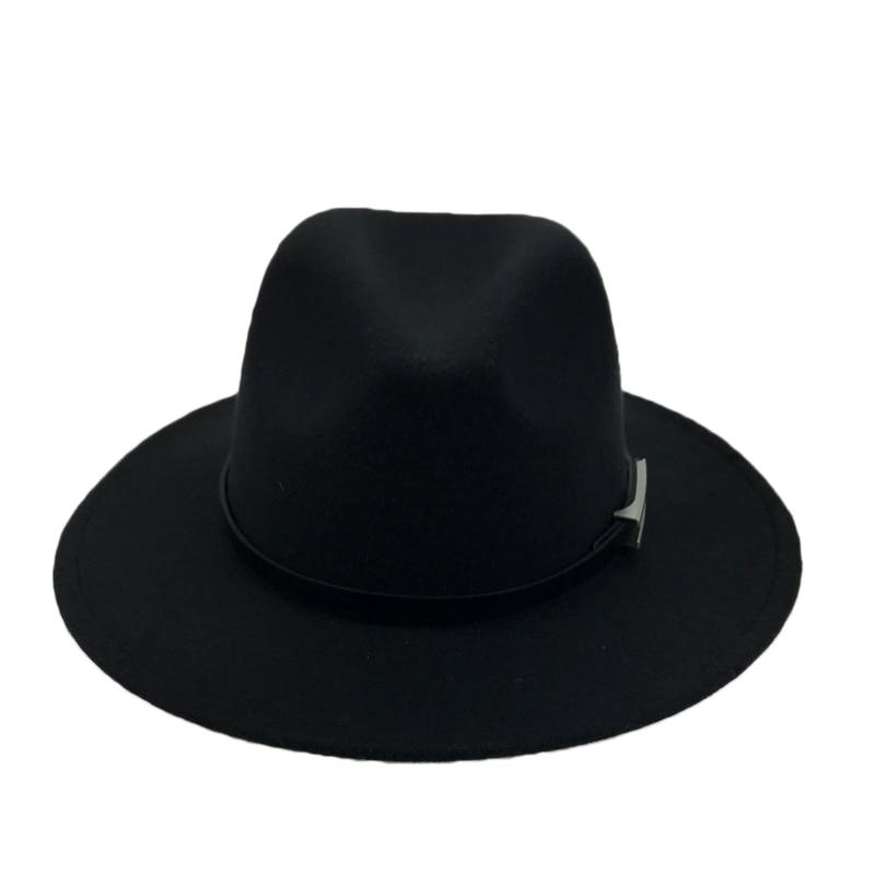 Ala ancha otoño sombrero gorras mujer hombre de moda sombrero de Jazz  invierno Sombrero de Panamá Vintage sombreros de los hombres de la Mafia  sombrero ... c0dff490f8c