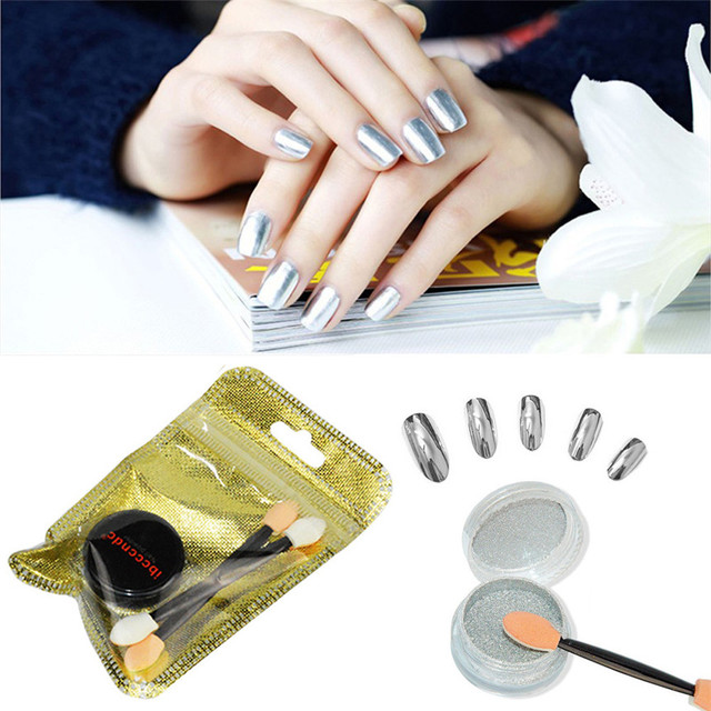 New Mirror Powder Effect Chrome Nails Pigment Gel Polish Diy 1 Box Nail Art