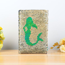 A5 Notebook Mermaid Style Reversible Sequin Diary Notebook 78 Sheets Notebook Journal DIY Personal Diary Note Book for Girl цена и фото