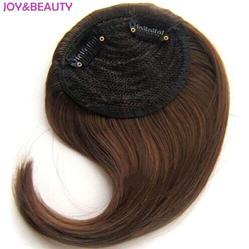 जॉय और सौंदर्य बाल सिंथेटिक बाल उच्च तापमान फाइबर ढाल बैंग्स बाल एक्सटेंशन बैंग में 15 सेमी लंबी क्लिप