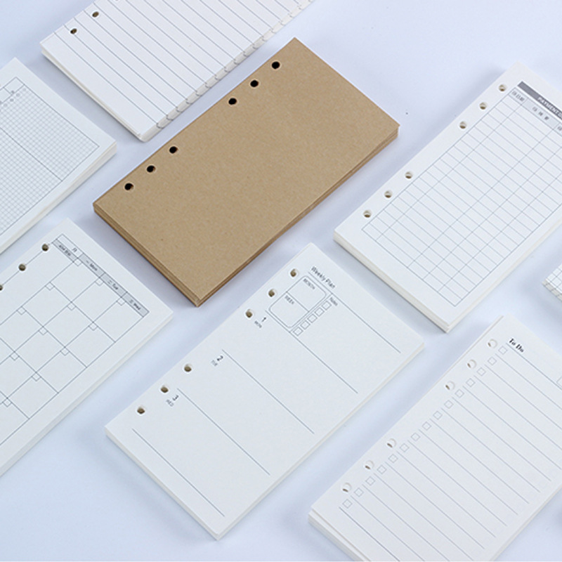 A6/A5 business notebook core kraft paper 6 hole loose-leaf Replaceable inner page notepad students school office supplies 1PCs блендер sakura sa 6206sv