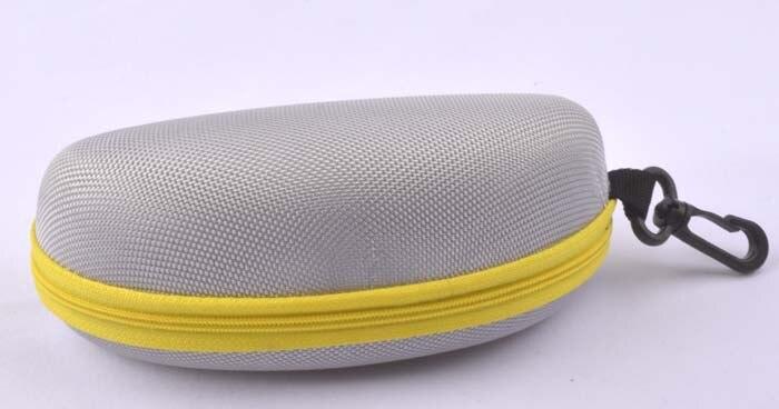 5 шт./лот солнцезащитные очки чехол для солнцезащитные очки с застежкой жесткий ЕВА модные очки поле 7 цветов - Цвет: Серый