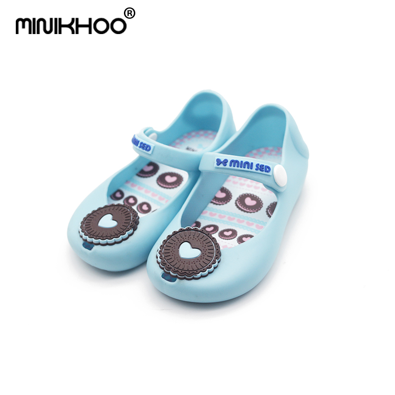 Mini Melissa Cookies Girl Jelly Sandals Baby Shoes Non-slip Baby Sandals Soft Shoes Baby MINI Sandals High Quality 13cm-15cm
