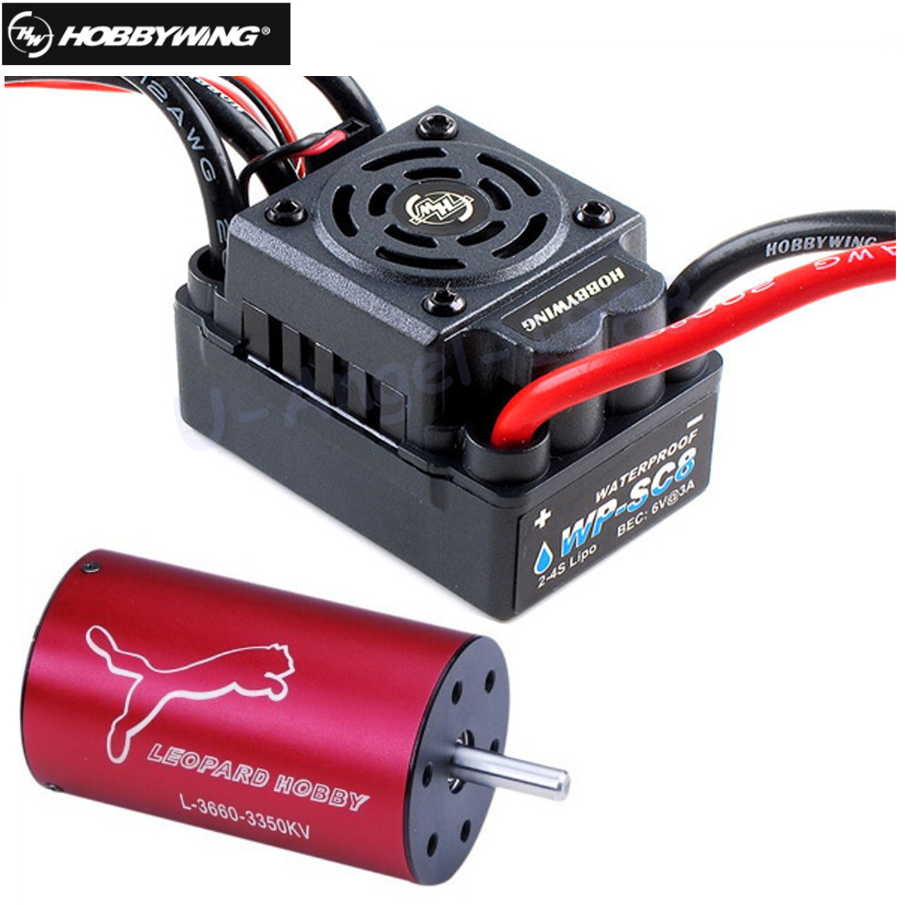 Hobbywing EZRUN Waterproof WP SC8 120A Brushless ESC +Lopard 4 Pole LBP3660 3800KV Brushless Motor for RC Drone wp sc8 waterproof 120a brushless esc splash water proof dust ezrun wp sc8 esc 2 in 1 multi functional professional programming