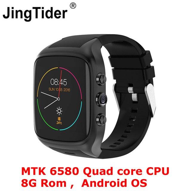 X02S Android Smartwatch Смарт часы телефон MTK6580 Quad core 8 г Встроенная память 2.0MP Камера 3g WCDMA WI-FI gps <font><b>600</b></font> мАч батарея Bluetooth 4,0