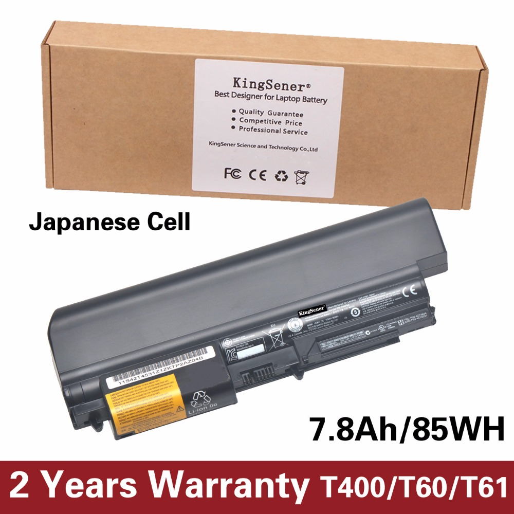 KingSener Korea Cell New Battery for Lenovo ThinkPad T400 R400 T61 T61p R61 R61i 14 42T4644 42T4531 42T4677 42T5232 10.8V 85WH 9cells new laptop battery for lenovo ibm thinkpad t61 r400 r61 r61i t400 43r2499 42t4644 42t4531