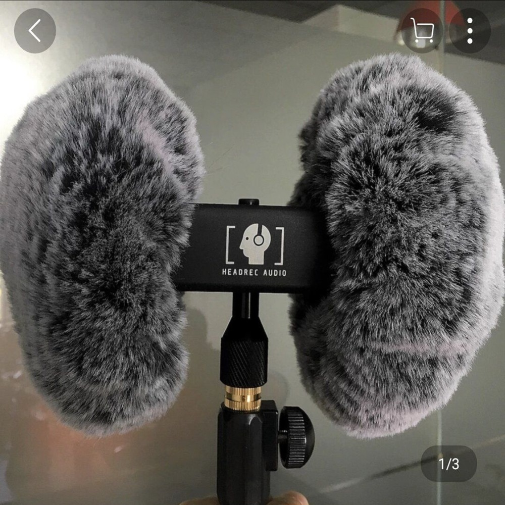 Dead Cat Arificial Fur Windscreen Shield For  3DIO ASMR  Heavy Duty Windproof Cover For 3DIO ASMR