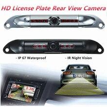 Автомобильная ИК-камера ночного видения HD обратная камера заднего вида Европейская номерная табличка резервная водостойкая камера ночного видения парковочная камера