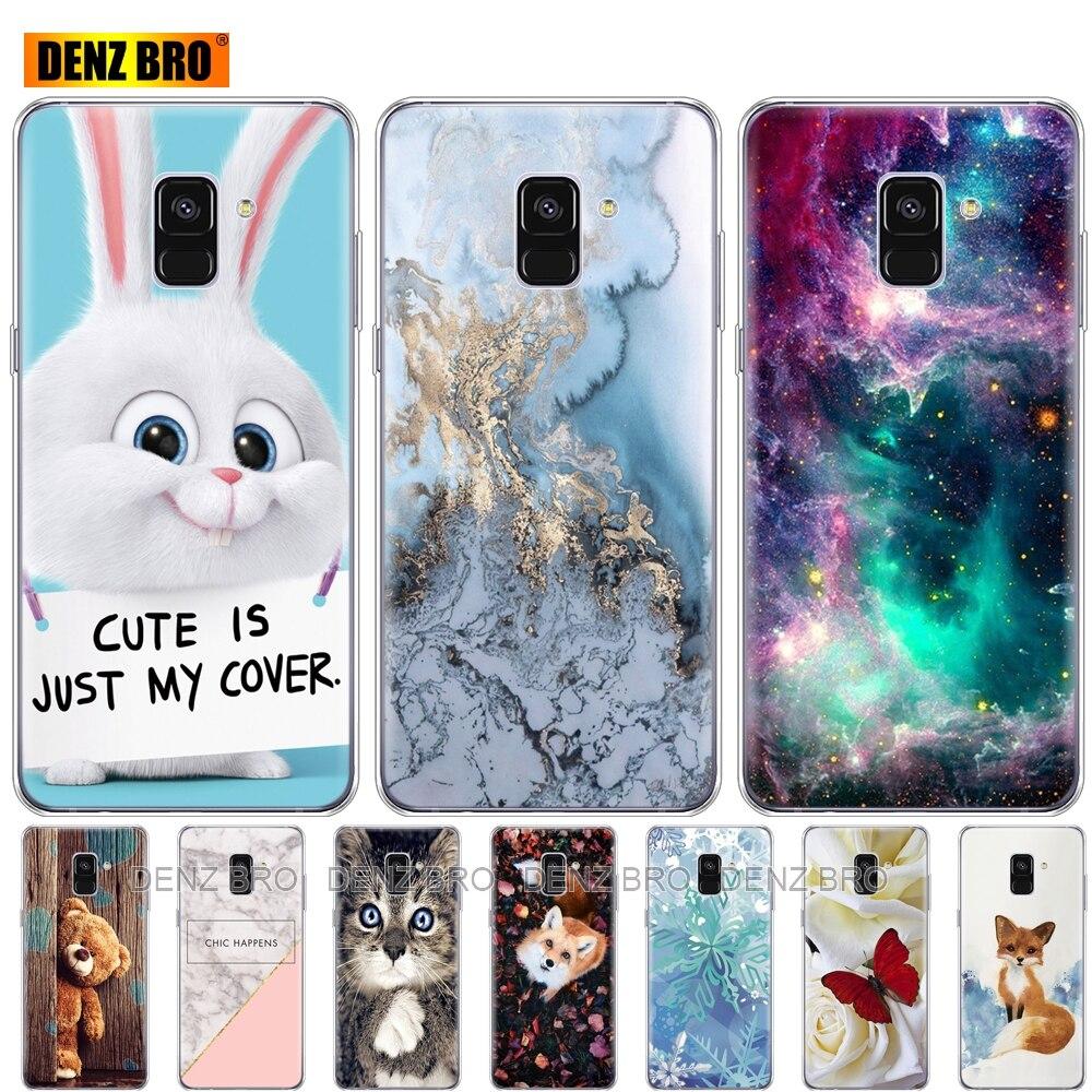 soft Silicone Case For Samsung Galaxy A8 2018 A530 A530F silicon Cover For Samsung A8 Plus 2018 A730 A730F Clear Cases