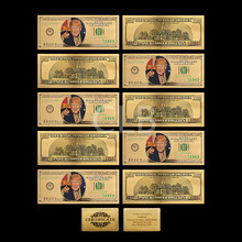2016 America Future President Of Donald Trump 100 Dollar Bill Colorful Gold Banknote Worth Collection