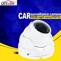 White Mini Indoor Taxi Camera Metal Inside CCD Backup Night Vision Camera For Surveillance Security 4 Pin AV BNC Interface