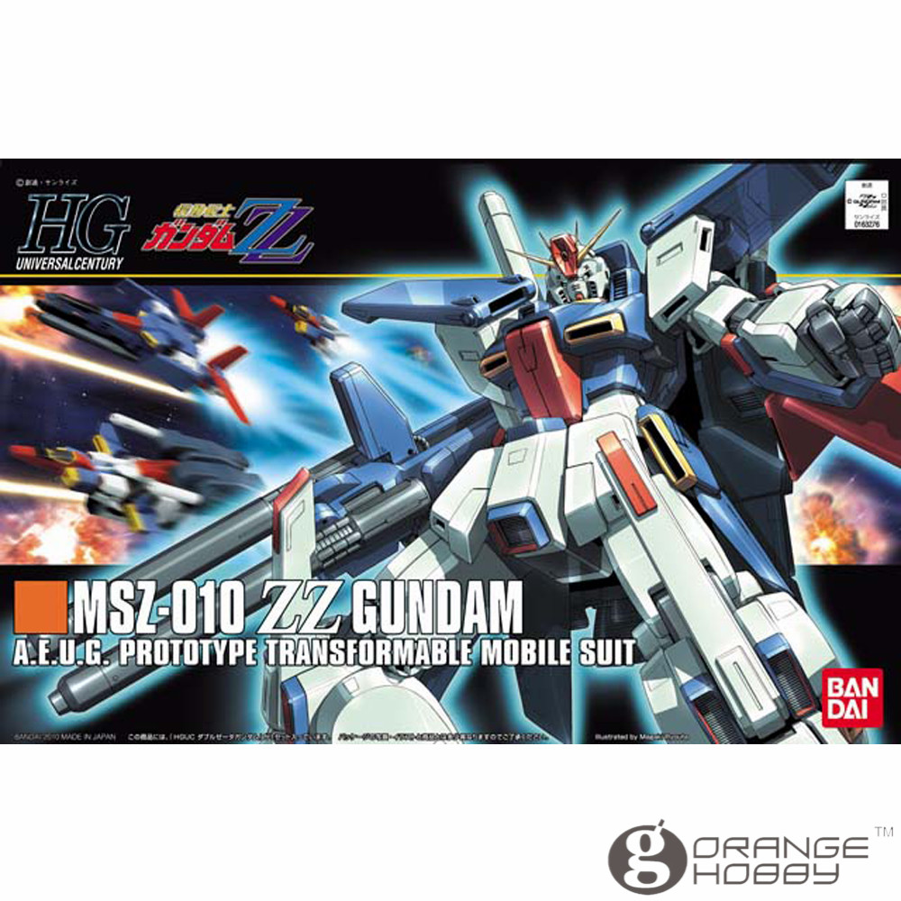 OHS Bandai HGUC 111 1/144 MSZ-010 ZZ Gundam Mobile Suit Assembly Model Kits ohs bandai hguc 116 1 144 msn 06s sinanju mobile suit assembly model kits