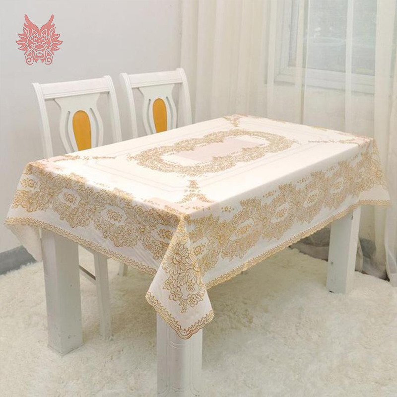 european style 137 180cm table cloth floral bronzing pvc tablecloth nappe de table gold coffee. Black Bedroom Furniture Sets. Home Design Ideas