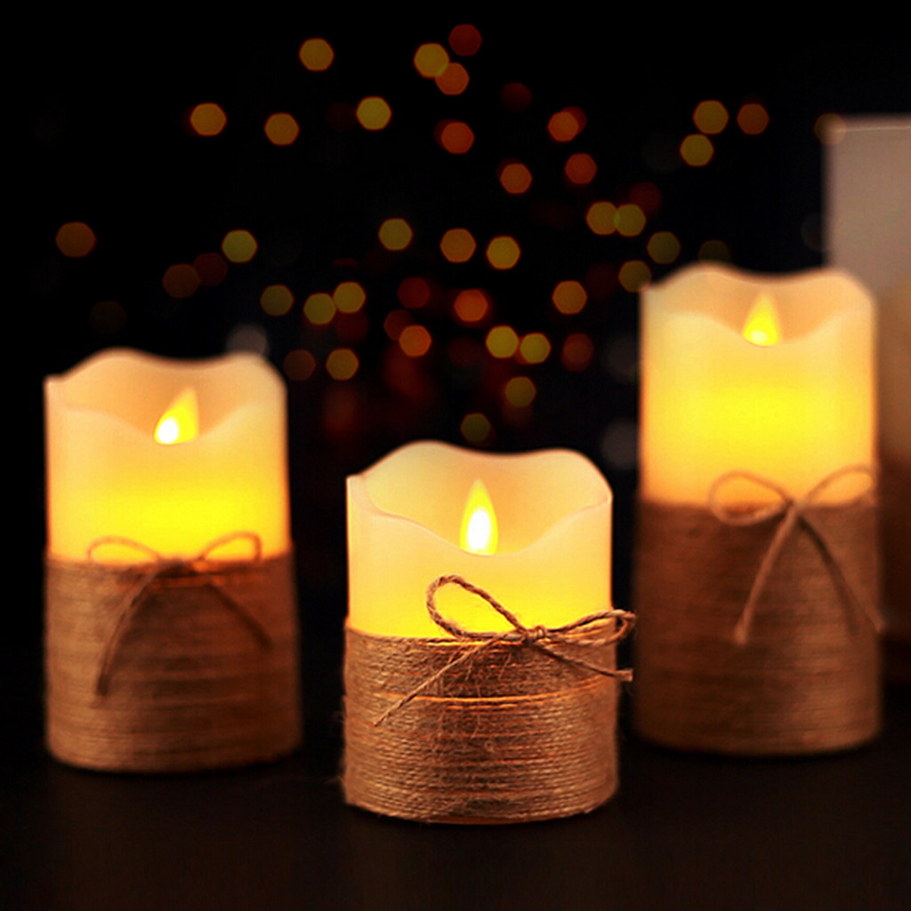Flameless Candles Battery Operated Pillar Real Wax Flickering Moving Wick Electric LED Candle Sets with Remote Control Cycling