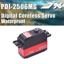 Jx PDI-2506MG 6.6kg metal engrenagem digital coreless servo para wltoys 12428 rc carro 450 500 helicóptero asa fixa avião parte