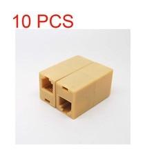 10pcs RJ 11 טלפון קו כבל מצמד מחבר שקע מתאם ad01