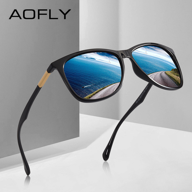 AOFLY BRAND DESIGN Classic Polarized Sunglasses Men Driving TR90 Ultralight Sunglasses Men's Goggles UV400 Gafas AF8085