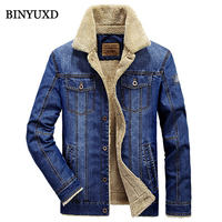Jacket Men Winter Jeans Wool Thick Warm Vintage Brand Clothing Suits 2016 New Arrival Denim Man