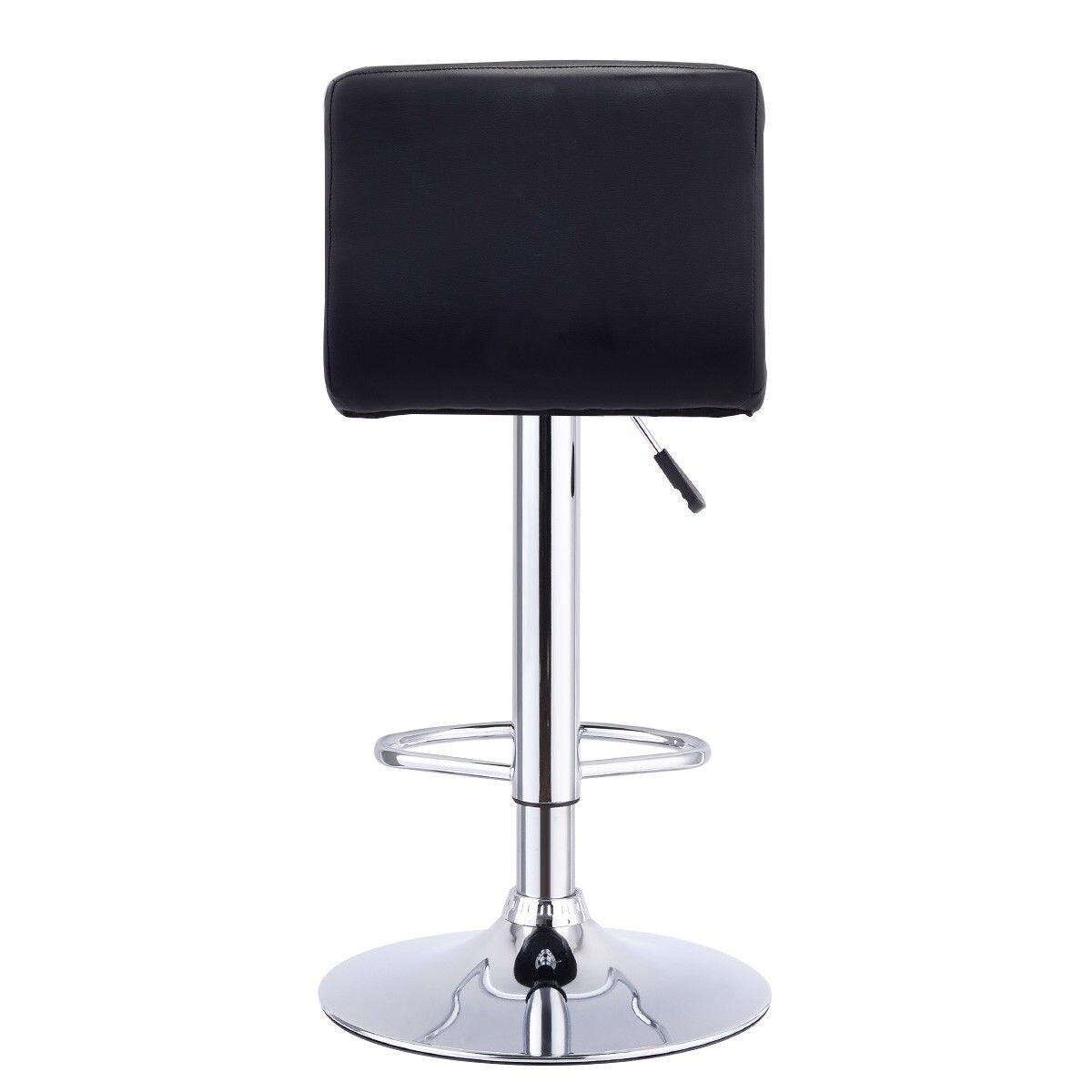 Giantex Bar Stool Swivel Adjustable PU Leather Barstools Bistro Pub Chair  Modern Living Room Bar Furniture HW53843BK In Bar Stools From Furniture On  ...