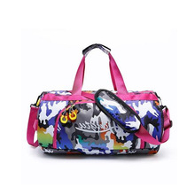 dfeac7bd0ca4 Multicolour Duffel Bag Gym Female Camo Fitness Sport Bags With Wet Shoes  Compartment Women Girls Pink