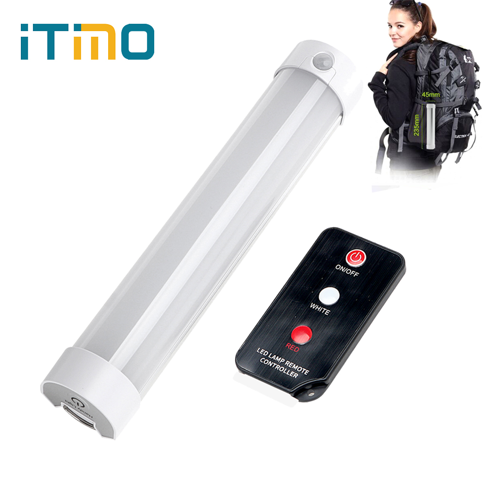 iTimo Camping Hiking Lamp with Remote Control Rechargeable Magnetic Repair Light LED SOS Emergency Light Portable Lantern 5 Mode