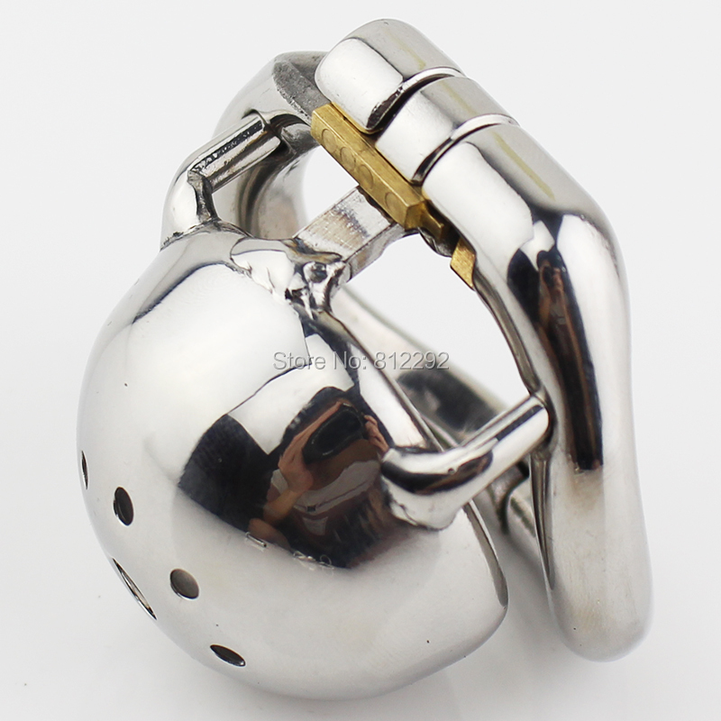 Stainless Steel Male Chastity Device Small Size Cock Cage For Men Cock Ring Penis Lock Chastity Belt Adult Sex Toys sex shop small male penis confinement chastity cage metal cock ring cockring chastity belt toy sex toys for men free shipping