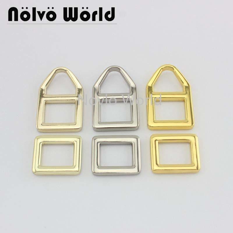 Wholesale 500pcs,4 Colors Accept Mix Color, Metal Buckle Handbag Accessories Shoulder Strap Links Hand-trimmed Triangular Buckle