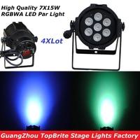 4Pcs High Quality Led Par Light 7X15W 5IN1 RGBWA 110W Led Par Can DMX DJ Disco