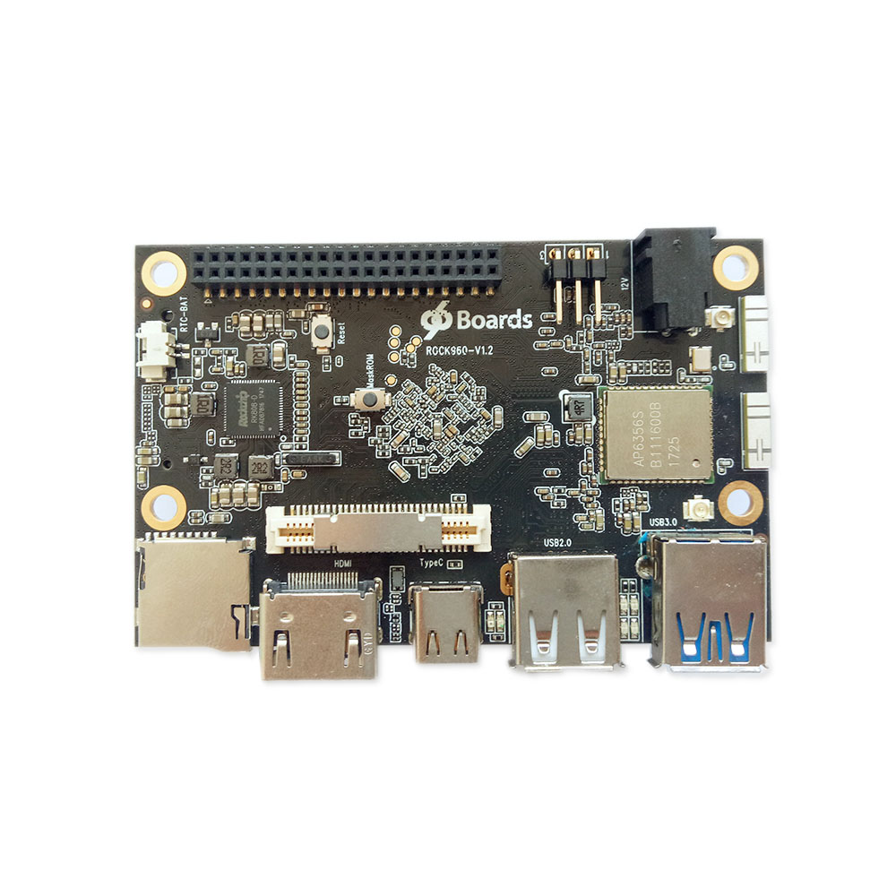 ROCK960 Board, Smallest RK3399 Solution 96Boards (2GB Or 4GB LPDDR3 @ 1866MHz ) HDMI 2.0 Up To 4K, Support With AOSP & Linux