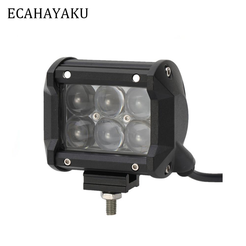 ECAHAYAKU 2Pcs 30W 4D Led Work Light 12V Offroad Fog Lights 24V for 4Wd Off Road Jeep Wrangler Lada Niva 4x4 Uaz Ford Motorcycle