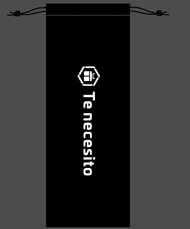 Custom Size Printing Logo 500pcs 15x40cm Long Size Black Velvet Drawstrings Pouches Gift Packaging Bag With