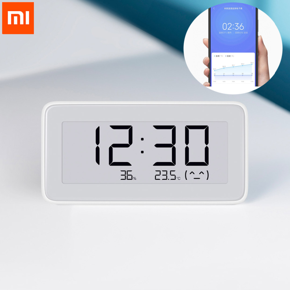 NEW Xiaomi Mijia BT4.0 Wireless Smart Electric Digital Clock Indoor Hygrometer Thermometer E-ink Temperature Measuring Tools