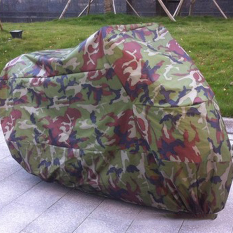 Universal M-3XL Size Camouflage Outdoor Rain Dust Protector Anti-UV Waterproof Motorcycle Cover For BMW Honda Yamaha Motorbike