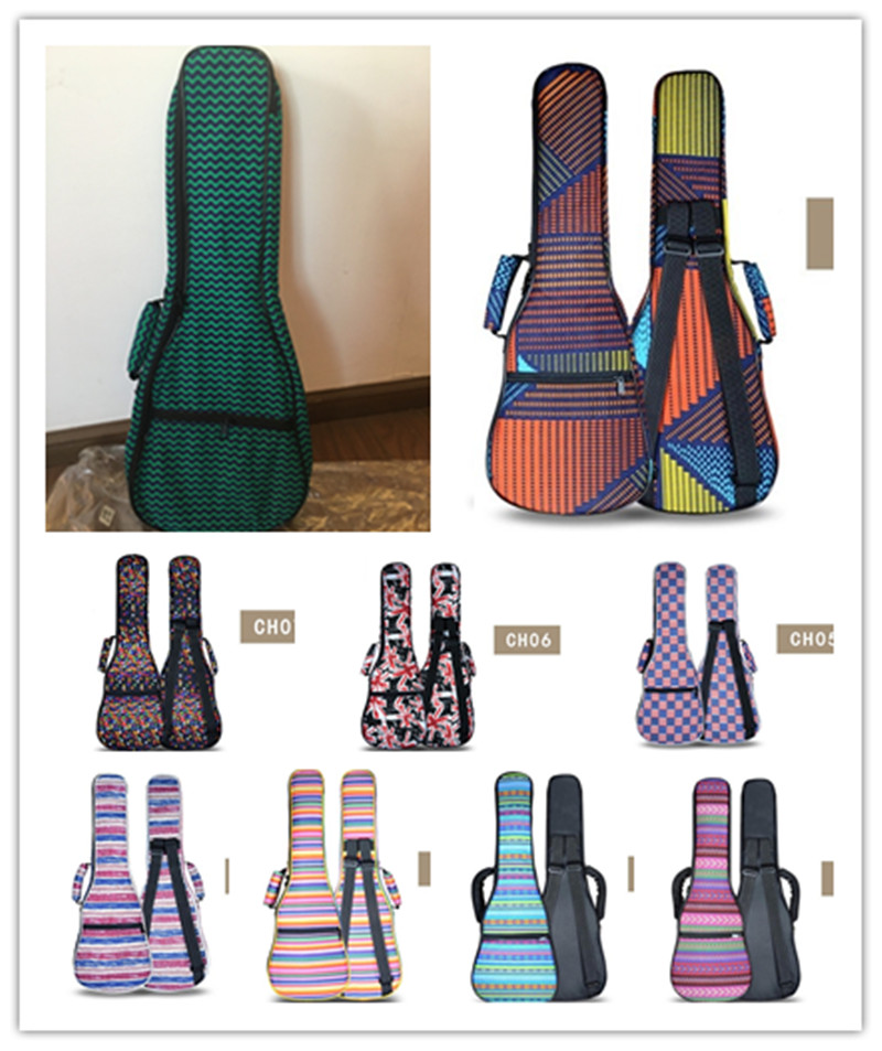 Creative Gifts High Quality Portable Durable 21 Inch Small Guitar Soprano Ukulele Backpack Gig Bags Case Ukues Soft Uke Cover