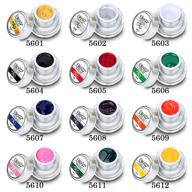 Elite99 12 Farben Acryl Farbe Gel 3D Nail art Lack Farbe Gel Zeichnen Malerei Acryl Farbe UV Gel Tip DIY nail art